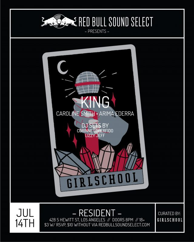 Red Bull Sound Select + GIRLSCHOOL/Sage Pizza Flyer Collab
