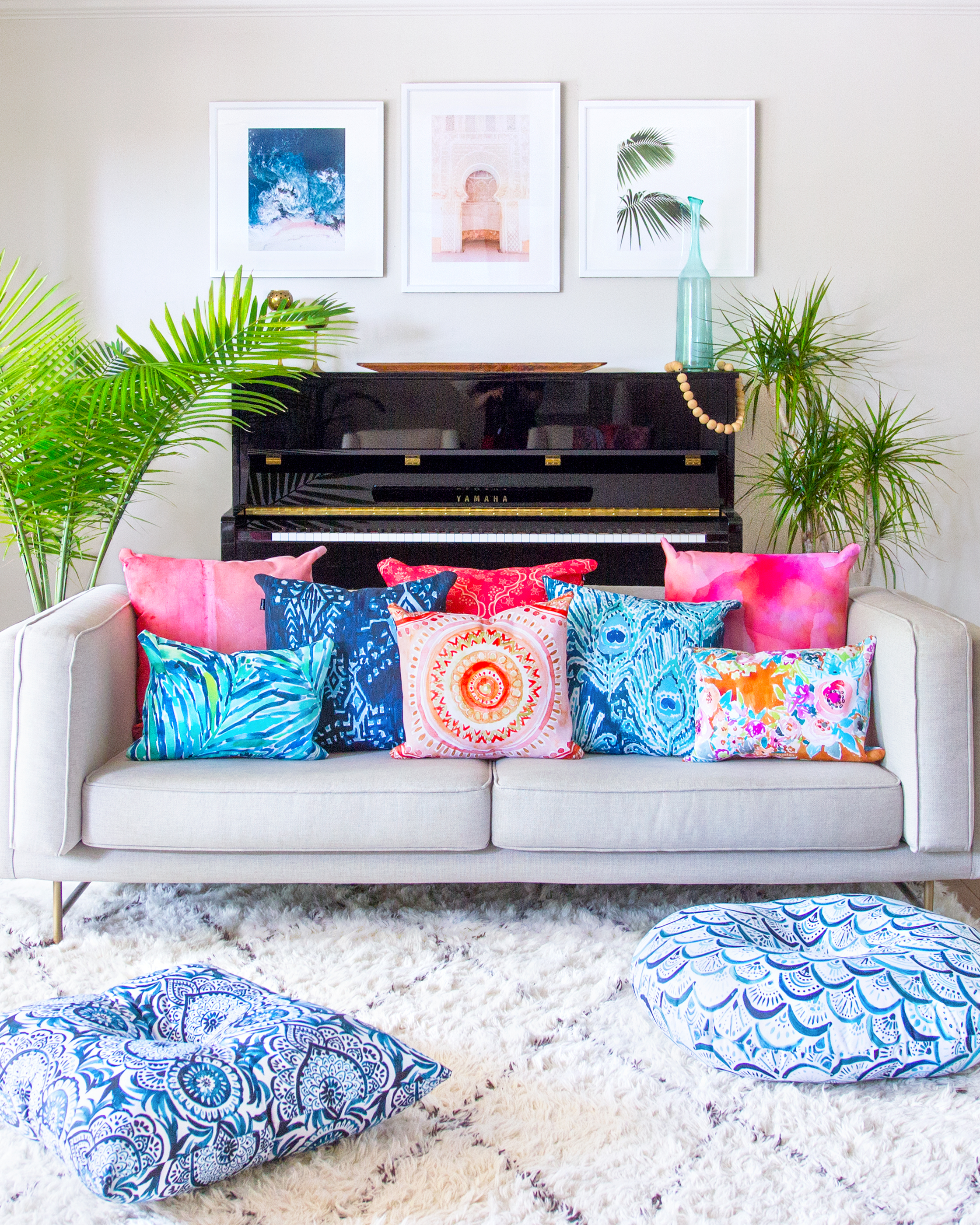 Check Out This Bold Boho Living Room Makeover