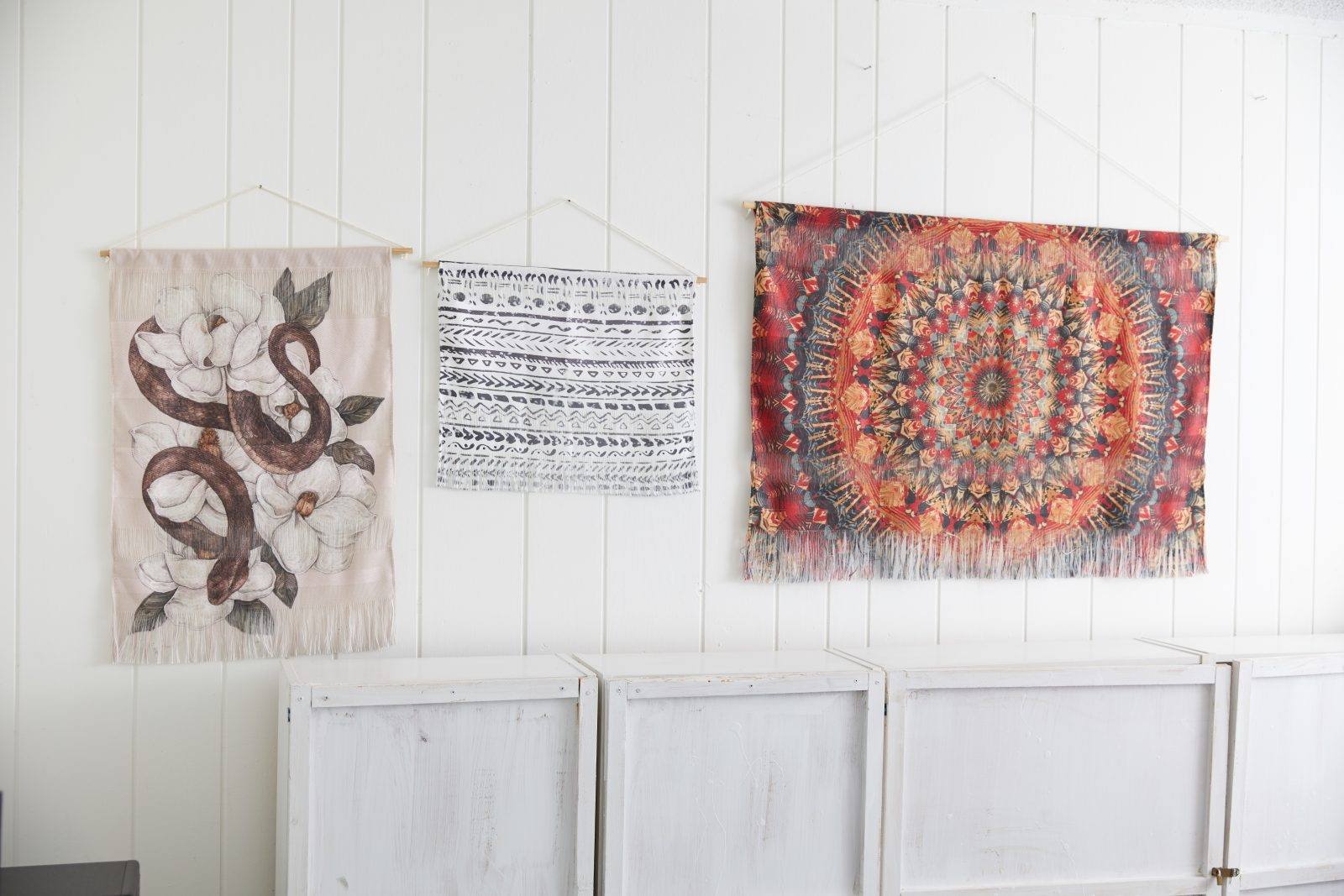 Our wall hangings elevate any space by adding texture dimension and a natural look and feel crafted from yarns in varying textures and patterns